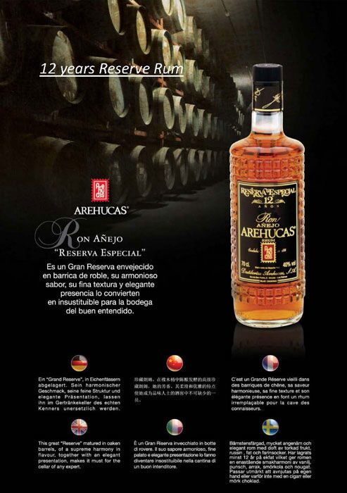 12 years Reserve Rum Ron Anejo Reserva Especial